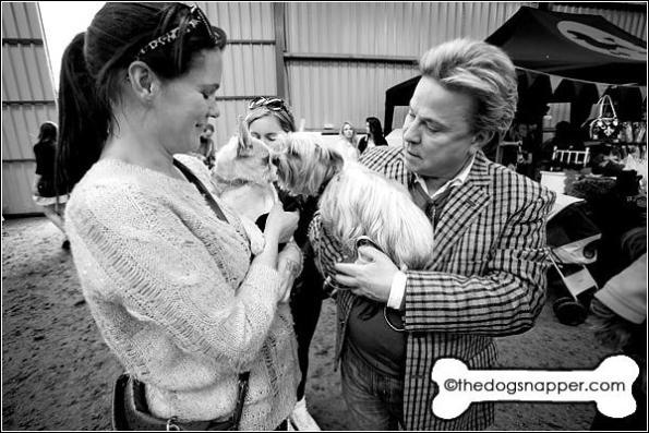 David Van Day with Alfie, Yorkshire Terrier