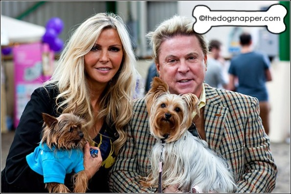 David Van Day and Sue Moxley with Alfie, Yorkshire Terrier