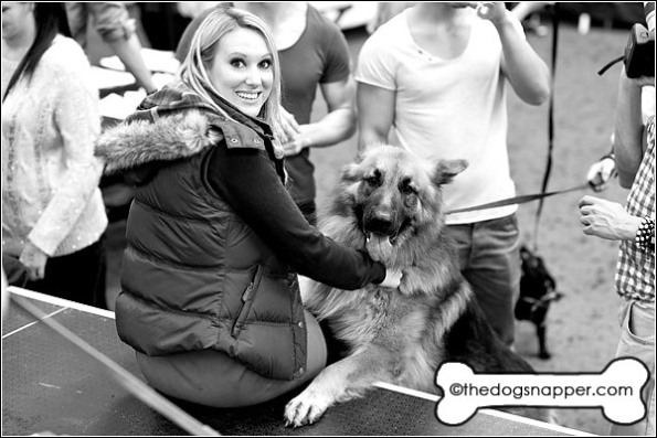 Rebecca Ferdinando with her dog Jackson the German Shepherd